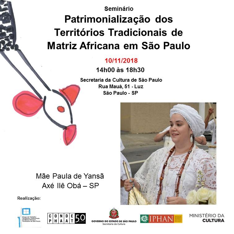 Patrimonialização Dos Territórios Tradicionais De Matriz Africana Em São Paulo